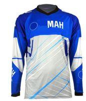 Racing Downhill T-shirt Polyester Quick-Séchage Summer Haut à manches longues Vélo de montagne de moto hors route en descente avec le même custo