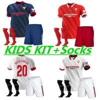 20-21KIDS Kit FC Sevilla Soccer Jersey 2021 Ever Banega Navas El Haddadi Vazquez Kounde Rakitic Ocampos футбол