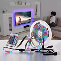 RGB LED Tira Luz 5V USB 2835 SMD LED Fita Flexível TV de TV PC Bottom Screen Lighting 5m