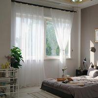 ستارة الستائر DZQ أبيض نافذة تول لغرفة المعيشة غرفة نوم المطبخ شير لوحة علاج الديكورات المنزلية