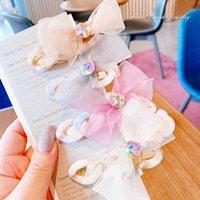 Acessórios de Cabelo Meninas Crianças Cabeleireiros Barrettes Barrettes Clipes Lace Bow Bowknot Cadeia De Moda FashionClips Princesa Acessório B6988