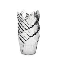 100pcs al foglio di alluminio in alluminio tazze di forno, tazze di muffin, tazze di torta in stile tulipano monouso, tazze di bicarbonato di alluminio B cupcake Ramekin detentori 28 V2