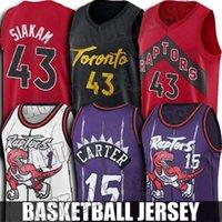 Rückgang Vince 15 Carter Jersey Tracy 1 McGrady Jerseys Pascal 43 Siakam Basketball Jersey