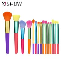 Makeup Brushes Colorful Set Woman's Cosmetics For Face Highliter Eyeshadow Eyebrow Foundation Cream Brush Tools 15pcs