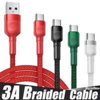 3A Type C Micro USB Braided Alloy Cables Durable High Speed DATA Charging For Android Mobile Phone 1m 2m 3m