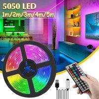 LED 스트립 빛 유연한 램프 1M-5M 테이프 다이오드 SMD DC5V 데스크 스크린 TV 배경 조명 USB 케이블 44 키 원격 제어