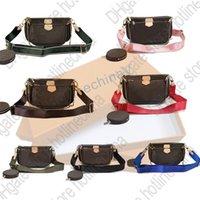 Bolsa de mujer Ladieshandbag Original Caja de fecha Fecha Bolso Monedero Mano One Hombro Messenger Bag MessEngerMulti-Bag 5 en 1 Wallet Lujos Diseñadores Bolsos M44813