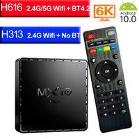 MX10 Mini TV Box Android 10.0 4G 64GB 2.4G&5G wifi 6K 4K Bluetooth Smart Media Player Android10 SET TOP BOX 4GB 32GB STB