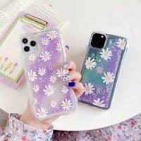 Sıvı Quicksand Dinamik Çiçekler Telefon Kılıfı Için iPhone SE 11pro Max X XS Max XR 7 8 Artı Bling Glitter Quicksand Koruyucu Kapak
