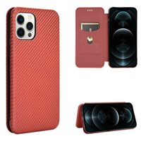 Carbon Fiber Cases For Apple iphone X XR XS Max 6 6s 7 8 Plus Case Magnetic Book Stand Flip Card Protective Wallet PU Leather Cover