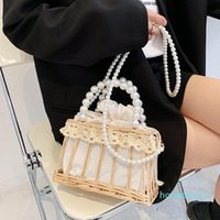 Armpit Bag Single Shoulder Fema 2021 Portable Pearl Fashion Chain Version The Of Messenger Korean Vegetable Basket Straw Woven Handbag Axjl