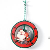 Creative Santa Procure Снеговик Деревянные Рождественские Украшения Рождественские Елки Рождественские Новый год Декор Декор дома HWE8468