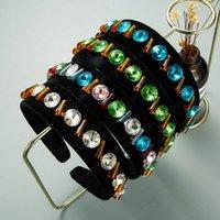 Bunte runde kristall stirnband für frau elegante handgemacht perlen black samt haarband weibliche party kopfstücke