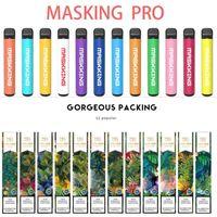Maskking alto gt pro descartável vape caneta e cigarro starter kit dispositivo 600mAh bateria 3.5ml pré-enchido 12 cores vapores originais atacado