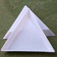 Decorações de Arte Nail 2021 Triângulo Plástico Redondo Rodas de Relógios de Cristal Triagem Bandejas Branco Unhas Acessoires Entrega Rápida