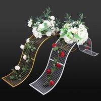 금속 웨이브 꽃 행 프레임 DIY 꽃 벽에 대 한 높은 품질 프레임 결혼식 파티 테이블 장식 15 v2