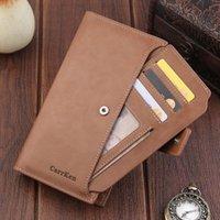 Wallets Fashion Women Men Leather Zip Purse Card Phone Holder Case Clutch Bag