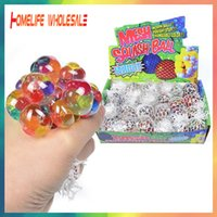5CM Colorful Mesh Squishy Grape Ball Fidget Toy Anti Stress Venting Balls Squeeze Toys Decompression Anxiety Reliever