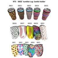 Iced Coffee Cup Sleeve Neoprene Insulated Sleeves Cups Cover For 30oz 32oz Tumbler Water Bottle With Carrying Handle Carrier Holder Bags