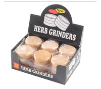 55 mm High Quality Smoking Dry Herb Grinder Two Layers Wood&Alloy Metal Tobacco Grinders Magnetic attractable