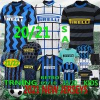 التايلاندية الكسيس Lukaku Lautaro Skriniar 2021 ميلان لكرة القدم جيرسي كاليو جودين باريلا الفانيلة كرة القدم الأعلى قمصان مخصص الرجال الاطفال