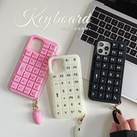 Keyboard silicone decompression color Phone Cases For iPhone13Pro 12 11Pro XSMAX 78PLUS SE 2021 6S Soft Cover XR