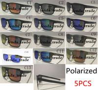 Venda quente Quadro de metal Brand New Metal Sunglasses UV400 Lente Polarizada Esportes Sun Óculos de Sol Trend Ciclismo Eyewear 13 Cores 5 pcs