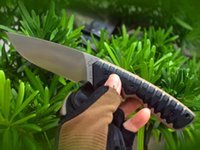 Factory Price High End M27 Survival Straight Knife DC53 Drop Point Satin Blade Full Tang G10 Handle Outdoor Hiking Camping Fixed Blades Knives With Kyde
