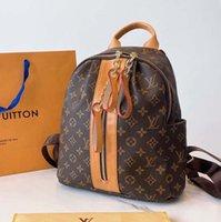 أعلى الفمز مصممين أكياس النساء حمل ماركة إلكتروني النقش حقيبة الظهر جلد طبيعي مع حقيبة الغبار الأصلي 32