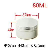 Storage Bottles & Jars Wholesale Empty 80 G Aluminum Refillable Metal Make Up Jar Travel Hair Cram Wax Tin Car Containers With Lids