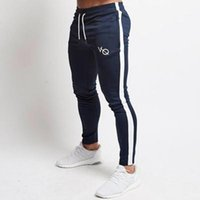 Mens Joggers Casual Pants Fitness Men Sportswear Tracksuit Bottoms Skinny Sweatpants Trousers Black Gyms Jogger Patchwork Track Pant