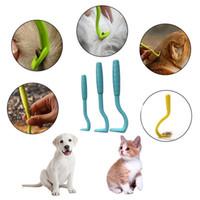 2 pçs / set piolhos tick twister removedor ferramenta de gancho do cão humano gato pet pente tick removedor ferramenta animal de estimação suprimentos gd331 162 s2