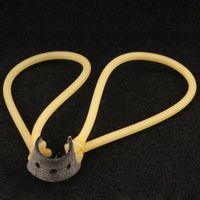 10 unids de látex natural Manguera de goma Slingshot Slingshot Reemplazo de látex para Slingshot Catapult (Amarillo)