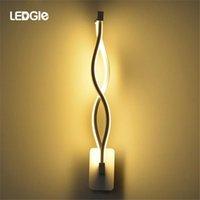 Duvar Lambaları LEDGLE 16 W Eğri LED Lamba Minimalist Oda Işık Sanat Beyaz Yatak Odası Yaşam için Onaylandı