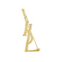 Letra de metal broche de mujeres, niña, letras, traje, Pin de solapa para regalos, accesorios de joyería de moda Precio al por mayor