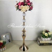 Party Decoration Design 72CM Height Metal Flower Vases Wedding Table Centerpiece Flowers Rack For Marriage Home Decor 10 PCS LOT