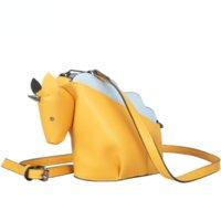Fun Personality Purses Unicorn Dinosaur Design Handbag Pu Leather Girl's Shoulder Bag Tote Crossbody Messenger Bags Casual Flap Fashion Purse