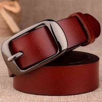 Fashion Ladies Leather Belt Unisex Soft Student Pants Alloy Buckle Old Retro Fine Snap Woman For Jeans Accessories 210917