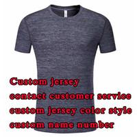 Jerseys personalizados o órdenes de desgaste casual, nota color y estilo, comuníquese con el servicio al cliente para personalizar el número de nombres de Jersey Menores de manga corta + niños