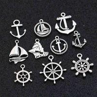 Ankerboot Charms Hanger Voor Sieraden Maken Armband Oorbellen Ketting DIY Accessoires Craft Mix 20pcs