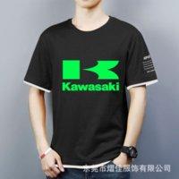 2021High Quality New Summer Mode Polo à manches courtes à manches courtes Kawasaki Logo de voiture T-shirt imprimé Coton imprimé Coton imprimé T-shirt
