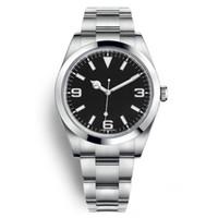 Sport de luxe Homme Montre Montre-bracelet Explorer I Acier inoxydable Noir Arabe Index 39mm 3 6 9 Nouvelle cadran de lume Bracelet Oyster 214270 - Tout neuf