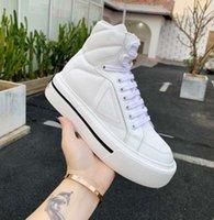 Luksusowe kobiety trampki Designer Shoes Lnspired przez koła motocyklowe Nylon Sneaker Gabardyna ma grube gumowe podeszwe aryjne logo zdobiące boki z pudełkiem