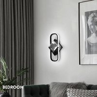 Simple Living Room TV Background Wall Lamps Modern Decorations Bedroom Bedside Wall Lights Nordic Aisle Study led Light Fixtures Creative Hotel Indoor Home Sconce