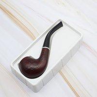 Commercio all'ingrosso Boutique Tobacco tubo 705 in legno intagliato in legno in legno massello tubo di legno manuale antico filtro del registro curvo tubo tabacco