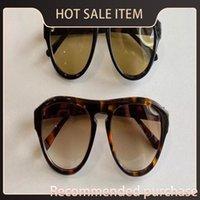 Hombres Negro / Azul Gafas de sol Calidad DE con Vintage Sonnenbrille Gafas Austin FT0677 SOLADAS SOL SOL Piloto Top Box ESDTL JHOEK