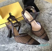 Zapatos de vestir de lujo tacones y sandalias de cuero artesanal italiano con una caja de tamaño35-41 alta calidad 4648