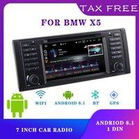 Автомобильное видео 1 DIN Radio Stereo Android 8.1 Мультимедийный проигрыватель для X5 12V Bluetooth-приемник Электронные аксессуары 8-Core