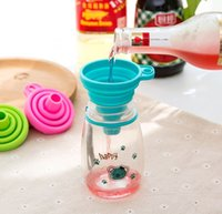 Food Grade Silicone Collapsible Funnel Flexible Colanders & Strainers Foldable Kitchen for Liquid Powder Transfer Many Color Choose
