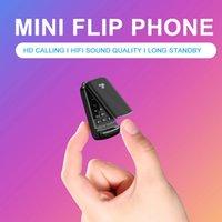 Unlocked Supper Mini Single SIM Card Handys Bluetooth 3.0 Synchronisieren Musik Kleiner Ersatztasche Flip Cover Tastatur Handy Magic Voice Quad Band Mobiltelefon
